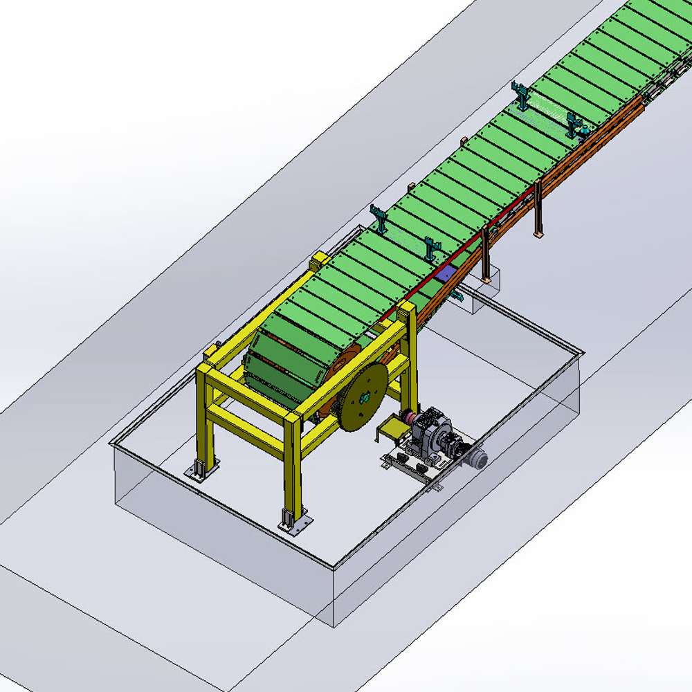 Large Pitch Chain Conveyor – Uncease Automation Pvt  Ltd